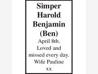 HAROLD BENJAMIN (Ben) SIMPER photo