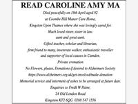 READ CAROLINE AMY MA photo