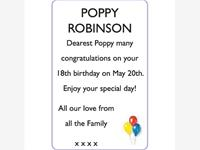 POPPY ROBINSON photo
