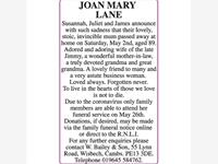 JOAN MARY LANE photo