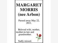 MARGARET MORRIS (nee Arbon)  photo