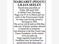 MARGARET (PEGGY) LILIAN SEELEY photo
