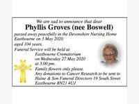 Phyllis Groves photo