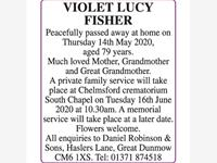 VIOLET LUCY FISHER photo