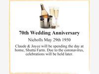70th Wedding Anniversary  photo