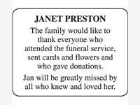 Janet Preston photo
