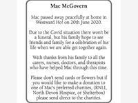 Mac McGovern photo