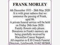 FRANK MORLEY photo