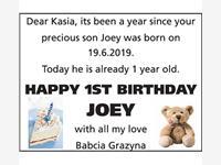 1st birthday Joey photo