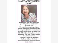 "MARY ANN THOMAS ""MAY""  photo"