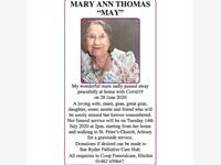 """MARY ANN THOMAS """"MAY""""  photo"""