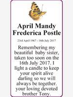 April Mandy Frederica Postle photo