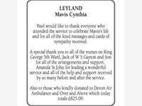 Mavis Leyland photo