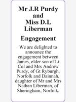 Mr J.R Purdy            and                   Miss D.L Liberman photo