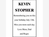 KEVIN STOPHER photo