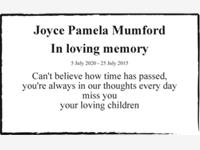 Joyce Pamela Mumford photo