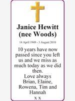 Janice Hewitt (nee Woods) photo
