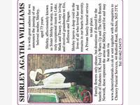 SHIRLEY AGATHA WILLIAMS  photo