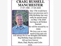 CRAIG RUSSELL MANCHESTER  photo