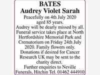 Audrey Violet Sarah BATES  photo