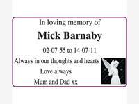 Mick Barnaby photo