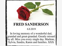 FRED SANDERSON photo