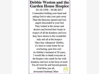 Debbie Weston and the Garden House Hospice  photo