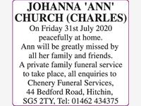 JOHANNA 'ANN' CHURCH (CHARLES) photo