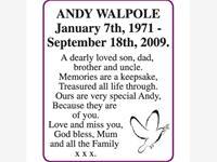 ANDY WALPOLE photo