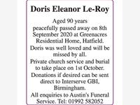 Doris Eleanor Le-Roy photo