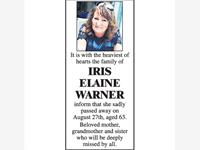 IRIS ELAINE WARNER photo