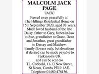 MALCOLM JACK PAGE 'JACK' photo