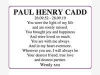PAUL HENRY CADD photo