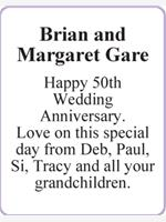 Brian and Margaret Gare photo