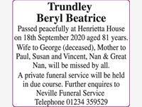 Trundley Beryl Beatrice photo