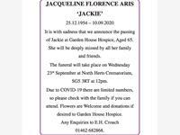 "Jacqueline Florence Aris ""Jackie"" photo"