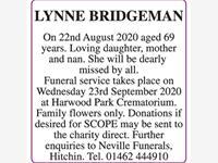 LYNNE BRIDGEMAN photo