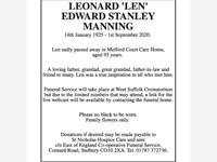 """Leonard """"Len"""" Edward Stanley Manning photo"""