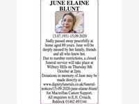 JUNE ELAINE BLUNT photo