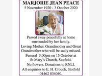 Marjorie Jean Peace photo