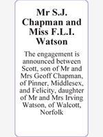 Mr S.J. Chapman and Miss F.L.I. Watson photo