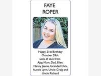 FAYE ROPER photo