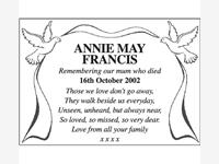 ANNIE MAY FRANCIS photo