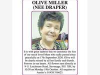 Olive Miller (nee Draper) photo