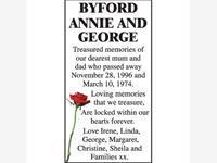 Annie and George Byford photo