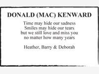 DONALD (MAC) KENWARD  photo
