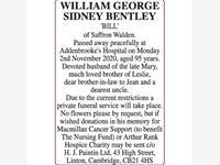 WILLIAM 'BILL' GEORGE SIDNEY BENTLEY photo