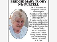 Bridgid Mary Tuohy, Née Purcell. photo