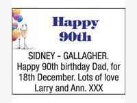 SIDNEY GALLAGHER photo
