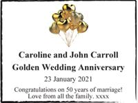 Caroline and John Carroll photo